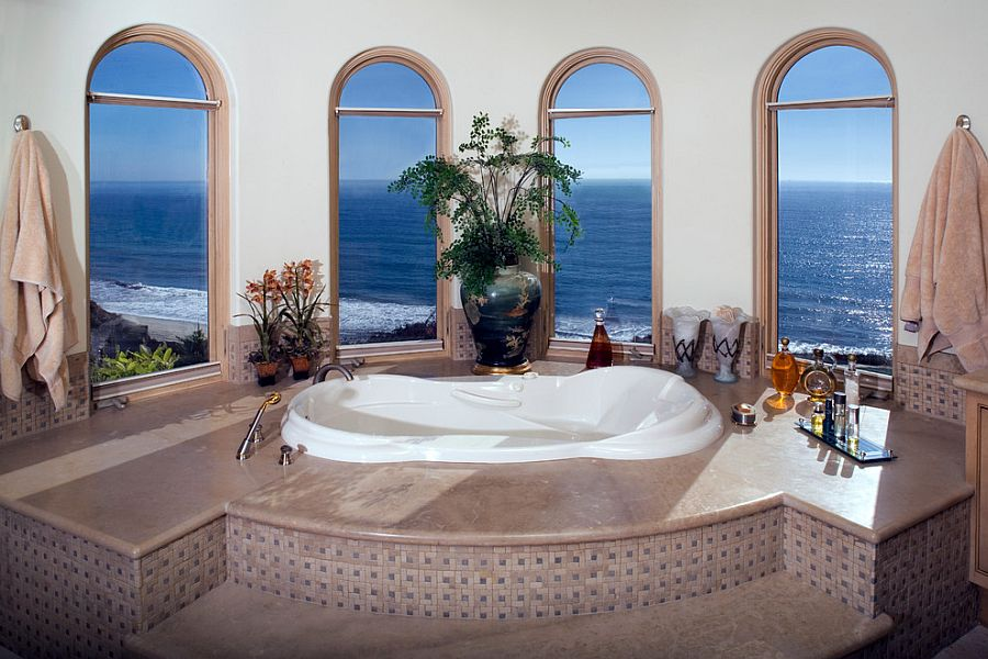 Dramatic way to showcase the view outside [Design: James Glover Residential & Interior Design]