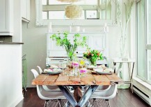 Eames chair is another classic that fits in with almost any style in the dining room