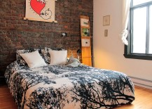 Eclectic-bedroom-with-exposed-brick-wall-and-Scandinavian-vibe-217x155