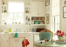Eclectic kitchen with a splash of shabby chic panache