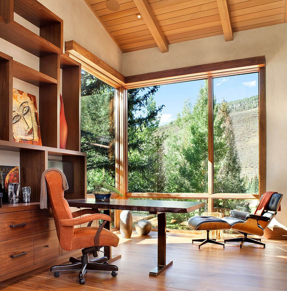 colorado mountain home by suman architects leaves your awestruck view in gallery elegant home office design with mountain views