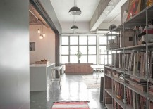 Exposed-concrete-surfaces-and-gray-walls-give-the-room-an-industrial-vibe-217x155