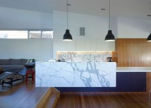 Fabulous marble kitchen island and counter design