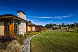 Fabulous rustic landscape around the gorgeous Eckford Residence