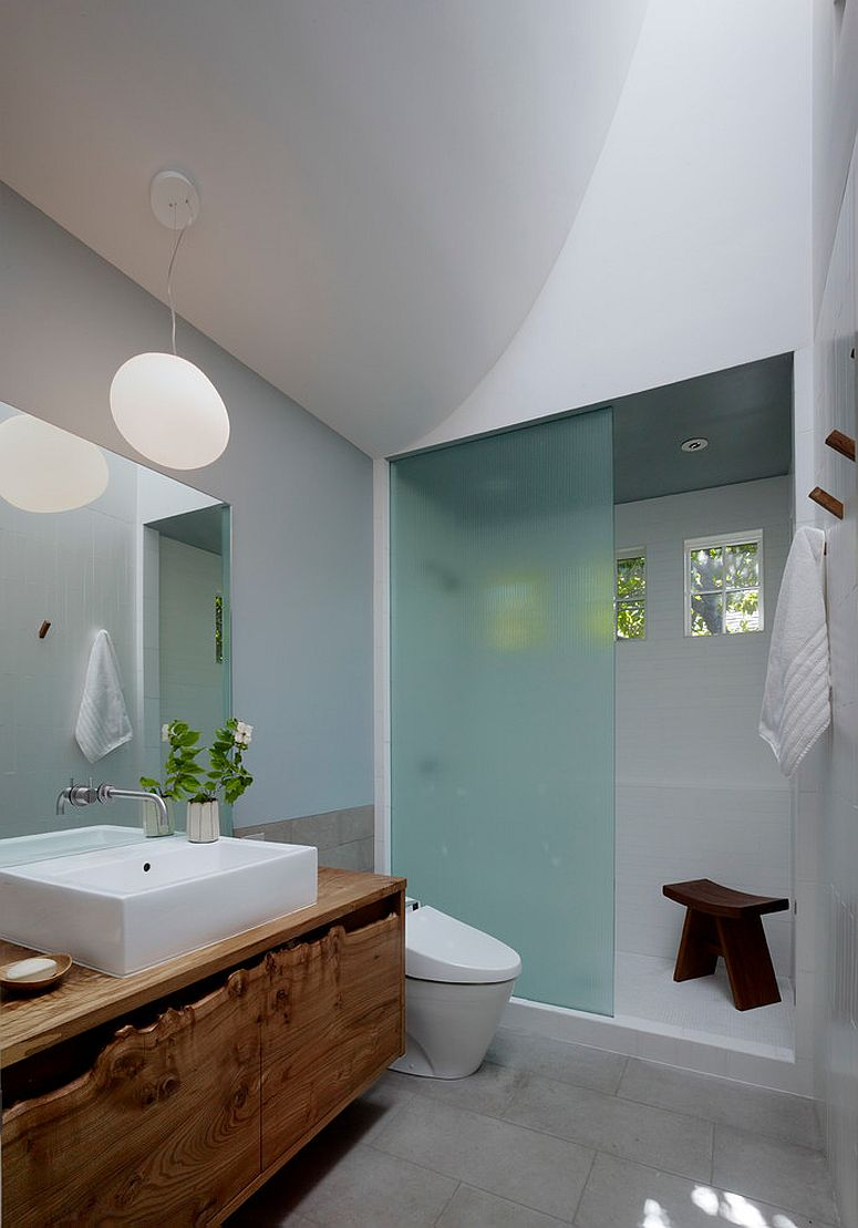 Fabulous Zen-inspired bathroom with custom vanity [Design: Buttrick Wong Architects / Photography: Matthew Millman]