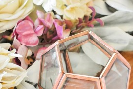 Faceted decor with copper trim Top Color Trends for the Winter Holidays Top Color Trends for the Winter Holidays Faceted decor with copper trim 270x180
