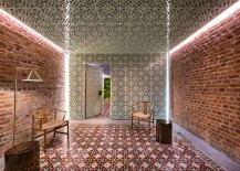 Fascinating tile work and original brick walls create a sensational vacation home in the heart of Penang