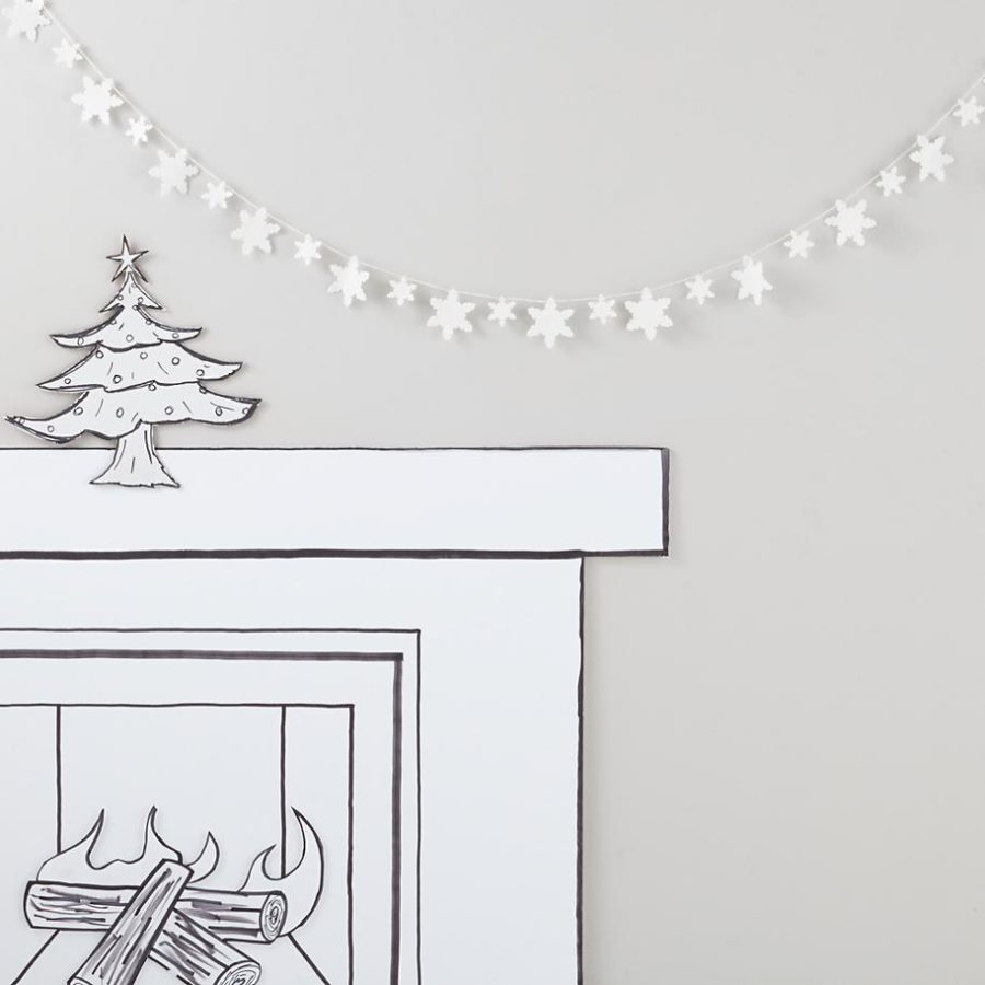 Felt snowflake garland from The Land of Nod