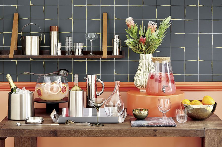 Festive beverage station in a photo from CB2