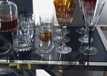 Festive glassware for the holiday bar cart
