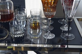Festive glassware for the holiday bar cart Stocking Your Holiday Bar Cart Stocking Your Holiday Bar Cart Festive glassware for the holiday bar cart 270x180
