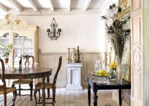 Finding the balance between traditional and shabby chic styles in the dining room [Design: Hm Arquitectura de Interior & Decoración]