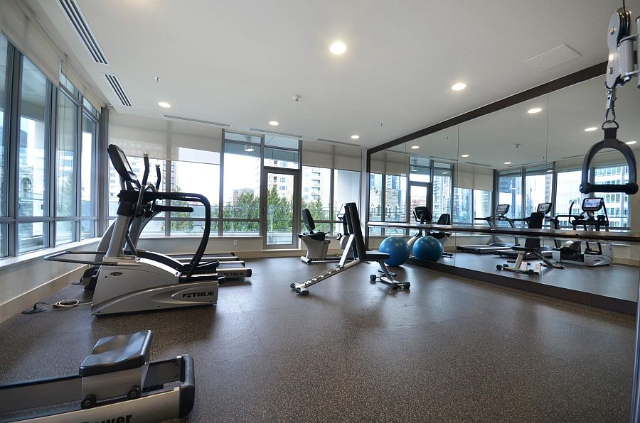 Fitness center of the building