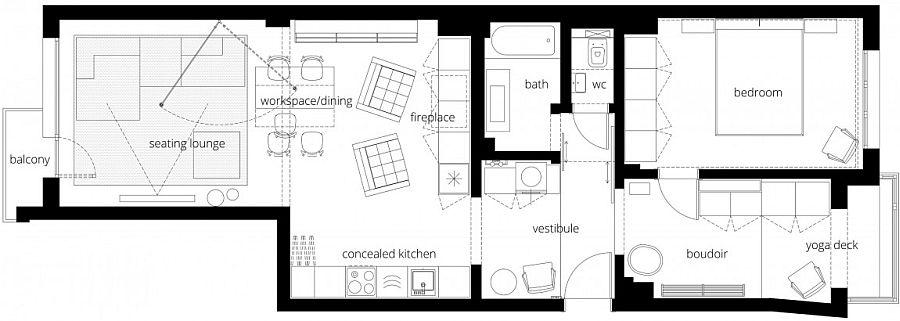 Floor plan of Apartment V01 in Sofia