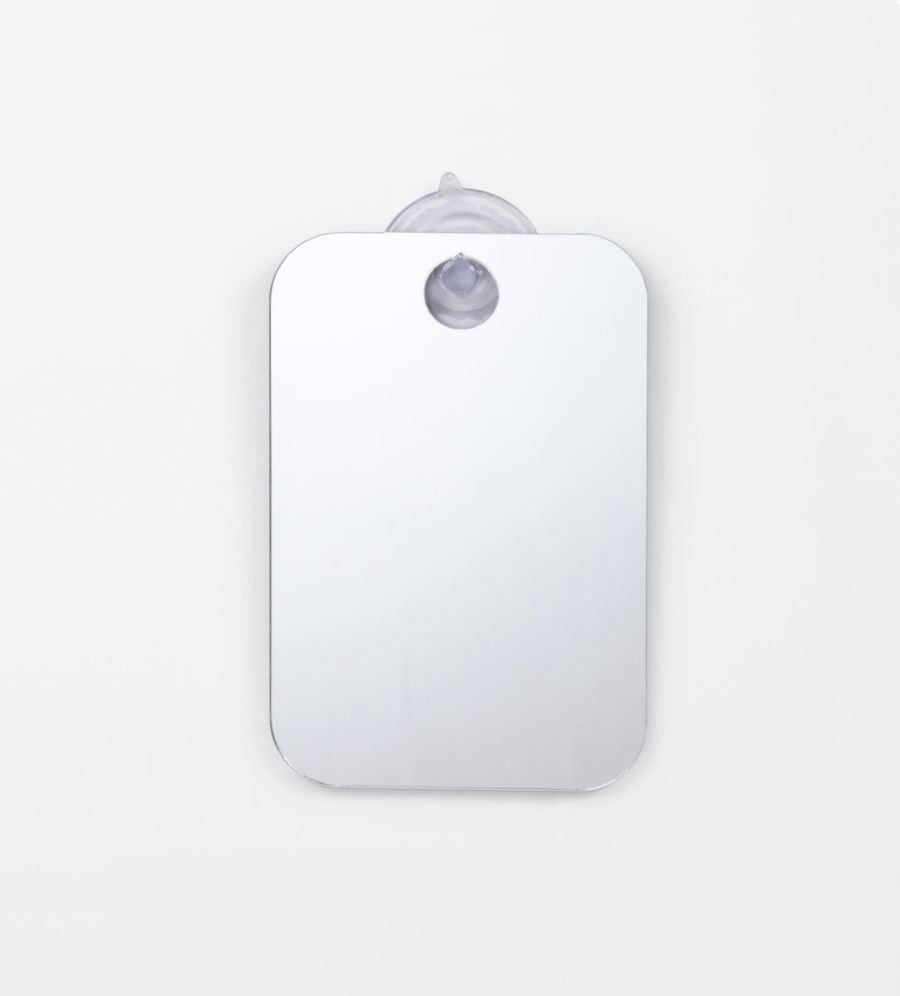 Fog-free portable shaving mirror