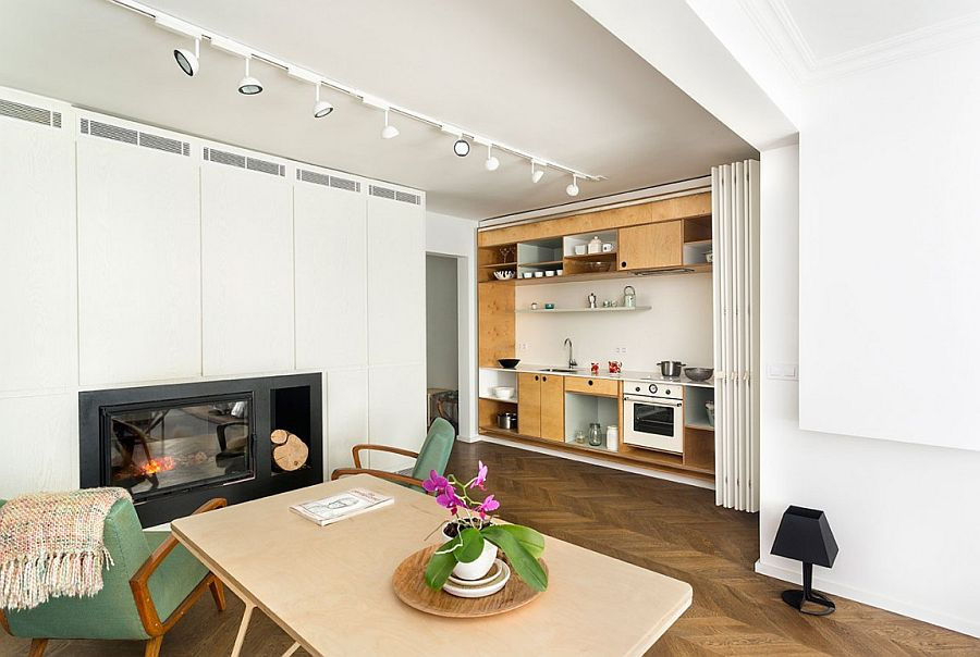 Hidden Kitchen Shelves And Space Saving Features Of