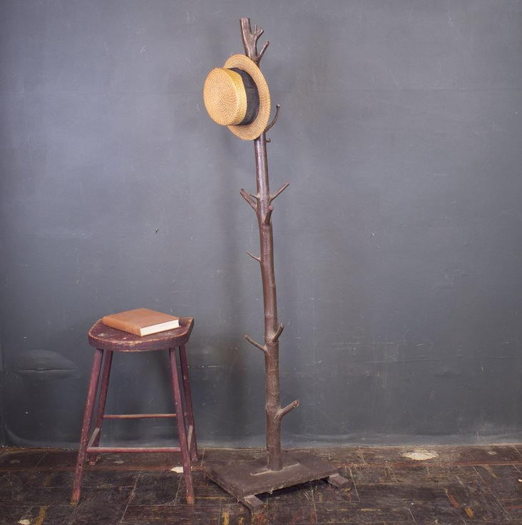 Folk art tree coat rack
