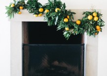 Fresh winter garland from Camille Styles