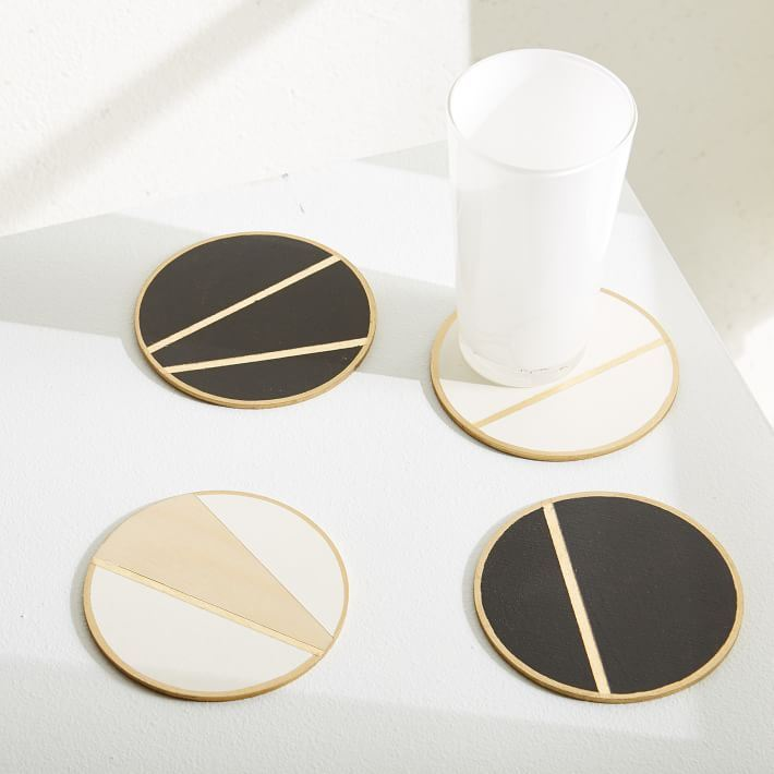 Geo coasters from West Elm