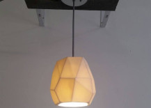 Geo pendant light from Etsy shop Revisions Design Studio