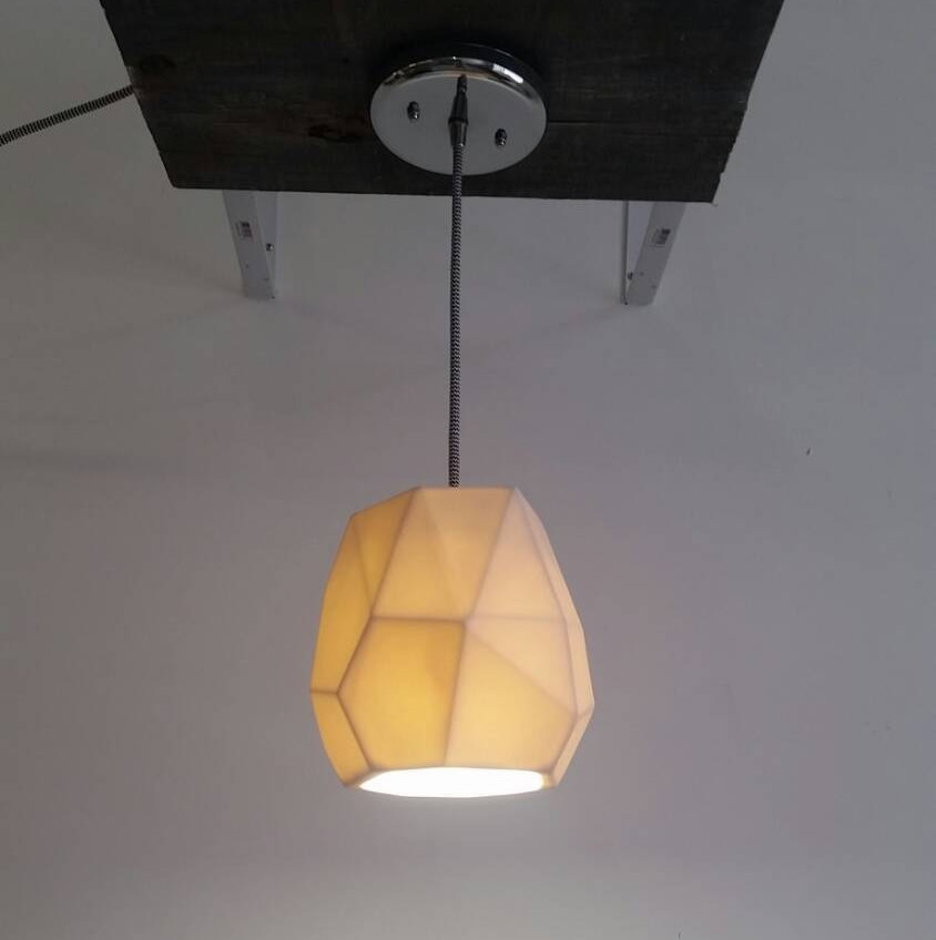 Geo pendant light from Etsy shop Revisions Design Studio