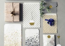 Geometric gift tags from ferm LIVING