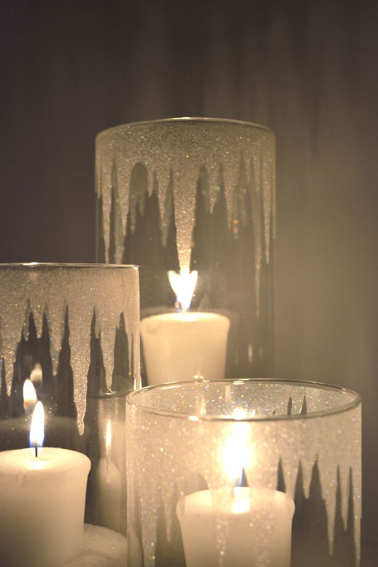 17 easy diy holiday candle holders for How to make glass candle holders