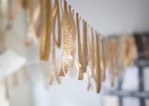 Glittery ribbon garland by Anastasia Marie