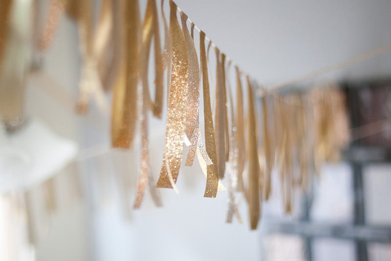 Glittery ribbon garland by Anastasia Marie