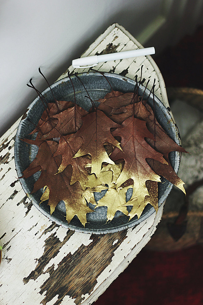 Gold-dipped leaves from The Sweetest Occasion