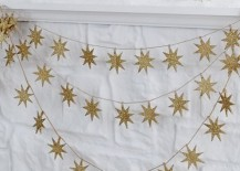 Gold star garland from West Elm