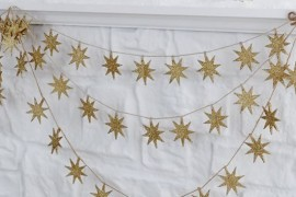 Gold star garland from West Elm Stocking Your Holiday Bar Cart Stocking Your Holiday Bar Cart Gold star garland from West Elm 270x180