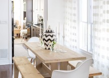 Gorgeous shabby chic dining room is more chic than shabby [Design: Jo Alcorn]
