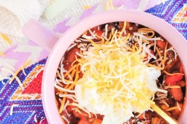 Hearty chili recipe from Proper Easy Thanksgiving Food and Decor Ideas for a Stress-Free Holiday Easy Thanksgiving Food and Decor Ideas for a Stress-Free Holiday Hearty chili recipe from Proper