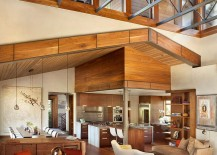 High ceiling and open plan living area of the Vail Residence