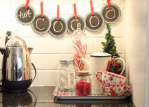 Hot Cocoa holiday themed banner in kitchen 217x155 Holiday Banner Ideas to Showcase Your Cheerful Message