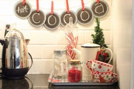Hot Cocoa holiday themed banner in kitchen Holiday Banner Ideas to Showcase Your Cheerful Message Holiday Banner Ideas to Showcase Your Cheerful Message Hot Cocoa holiday themed banner in kitchen