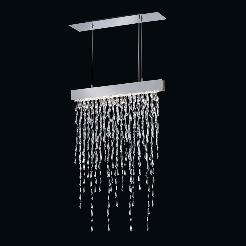 Icicle-style lighting by Swarovski Centerpieces