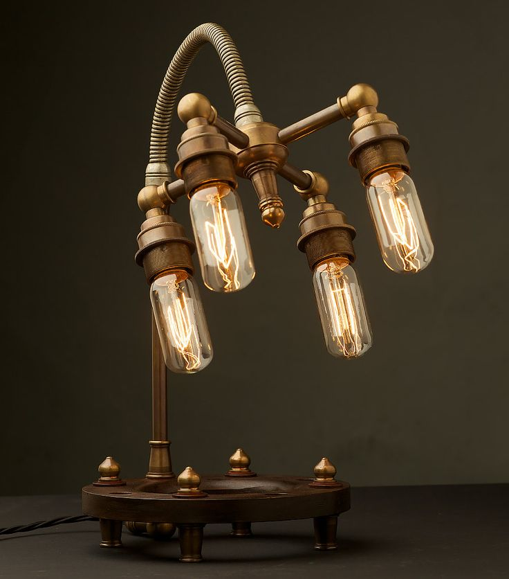 Industrial / Steampunk lamp from Edison Light Globes