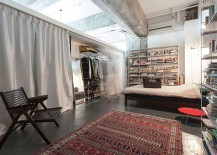 Industrial bedroom that puts practicality ahead of aesthetics