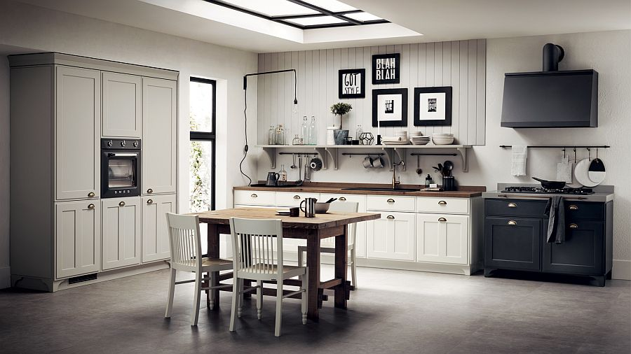 Industrial chic style and country chic elements create lovely Favilla kitchen Rediscover the Past: 11 Cozy Kitchens Inspired by the Shabby Chic Trend