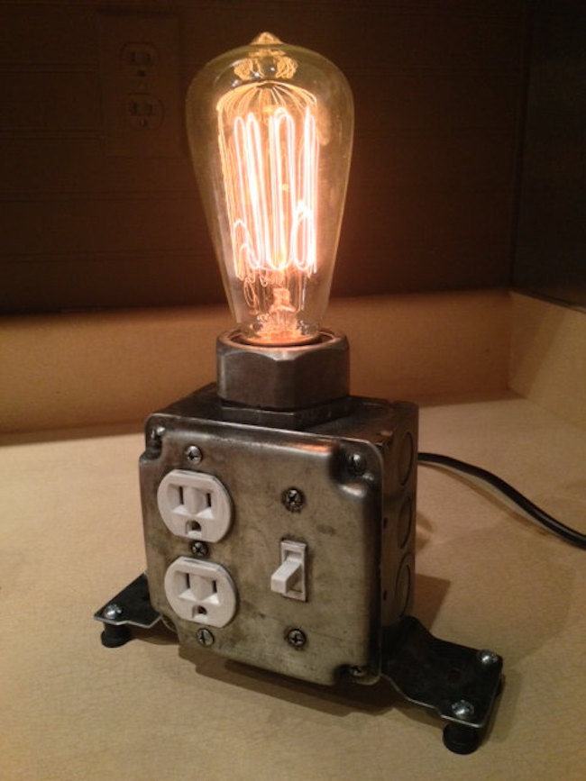 Ordinaire View In Gallery Industrial Desk Lamp With Working Plugs From  MartyBelkDesigns On Etsy