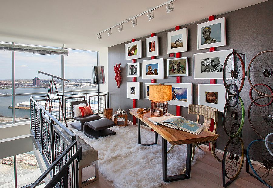 Home Offices That Turn To Red For Energy And Excitement