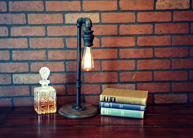 Industrial table lamp from Illuminology on Etsy