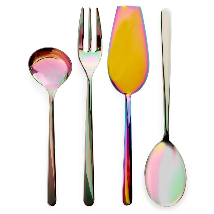 Iridescent serving utensils from ABC Home