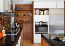Kitchen corner open shelf idea