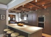 Kitchen spotlights add drama