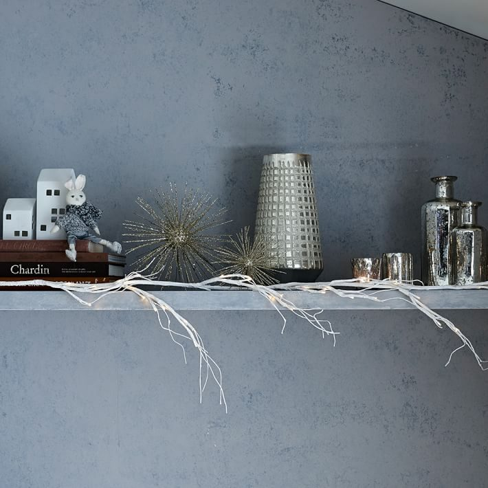 LED garland from West Elm