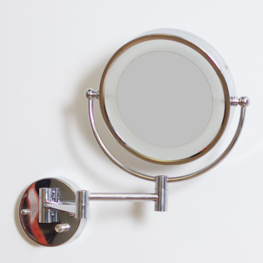 20 stylish shaving mirrors view in gallery led wall mirror with a chrome finish amipublicfo Gallery