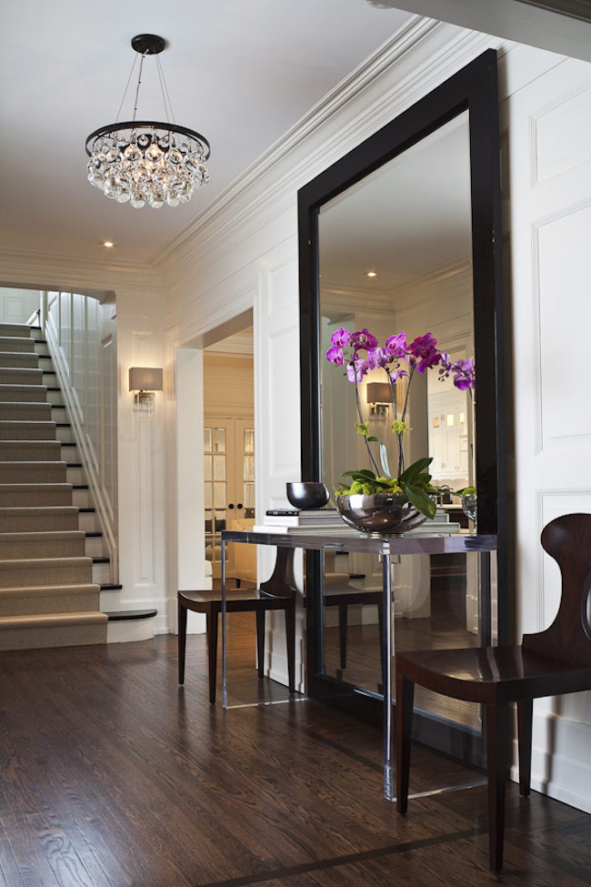 Foyer Table Chairs : Entryways with captivating mirrors